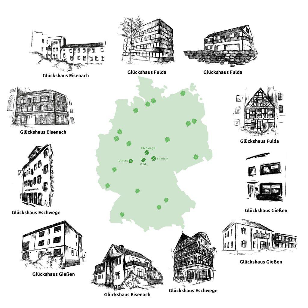 Glückshäuser Standorte
